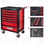 Tööriistakapp Racing-line must/punane (7 sahtlit + 215 tööriista)