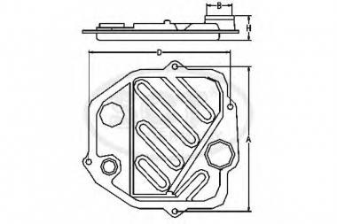 Hüdraulikafiltrikomplekt automaatkäigukast